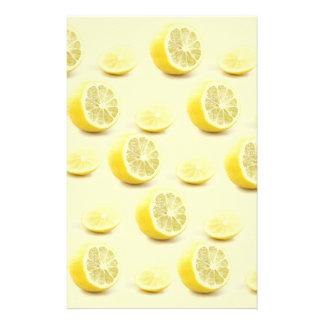 lemon stationary custom stationery