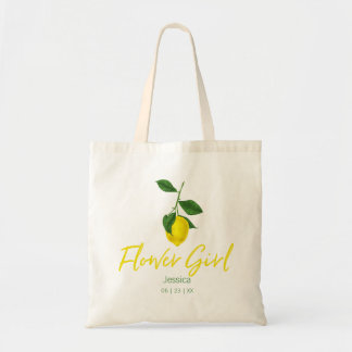 Lemon Summer | Flower Girl Tote