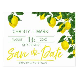 Lemon Summer | Save the Date Postcard
