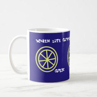 Lemon Tea Mug with initials