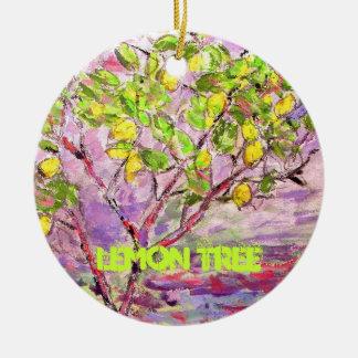 lemon tree art ceramic ornament