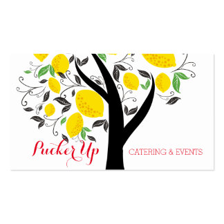 lemon tree bakery chef catering business card