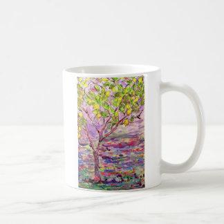 lemon tree classic white coffee mug