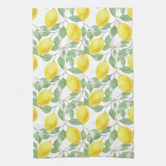 Lemon Tree Pattern Tea Towel