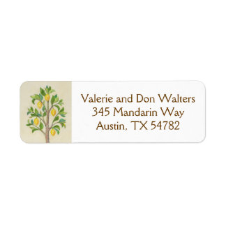 Lemon Tree return address label