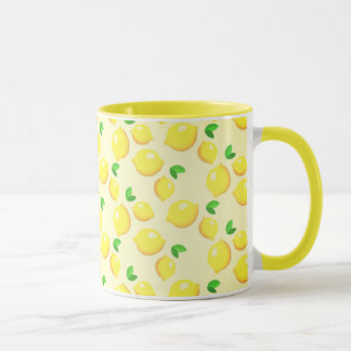 Lemon Tree Yellow Ringer Mug