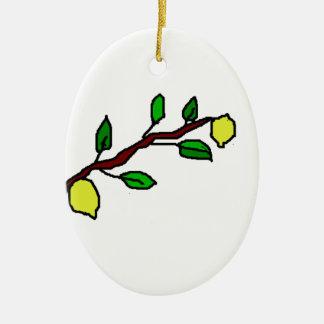 lemon twig ceramic ornament