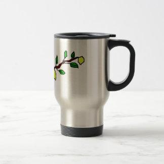 lemon twig stainless steel travel mug