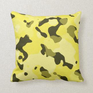 Lemon Yellow Camo; Camouflage Cushion