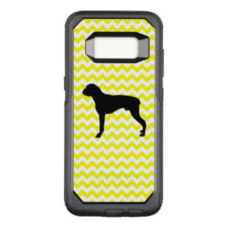 Lemon Yellow Chevron With Boxer OtterBox Commuter Samsung Galaxy S8 Case