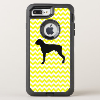 Lemon Yellow Chevron With Boxer OtterBox Defender iPhone 8 Plus/7 Plus Case