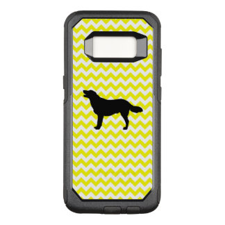 Lemon Yellow Chevron With Golden Silhouette OtterBox Commuter Samsung Galaxy S8 Case