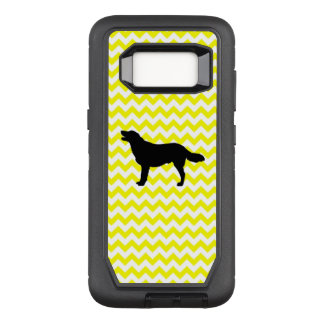 Lemon Yellow Chevron With Golden Silhouette OtterBox Defender Samsung Galaxy S8 Case