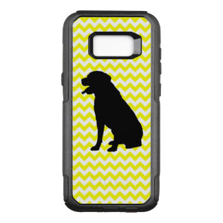 Lemon Yellow Chevron With Lab Silhouette OtterBox Commuter Samsung Galaxy S8+ Case