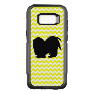 Lemon Yellow Chevron With Shih Tzu Silhouette OtterBox Commuter Samsung Galaxy S8+ Case