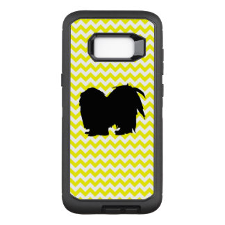 Lemon Yellow Chevron With Shih Tzu Silhouette OtterBox Defender Samsung Galaxy S8+ Case