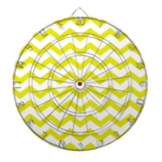 Lemon Yellow Chevrons Dartboard
