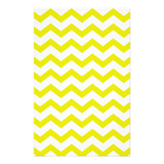 Lemon Yellow Chevrons Stationery