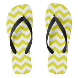 Lemon Yellow Chevrons Thongs