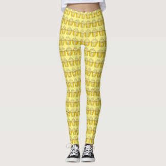Lemon Yellow Cupcake Cupcakes Cake Print Leggings