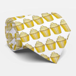 Lemon Yellow Cupcake w/ Sprinkles Cake Print Tie