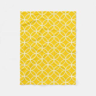 Lemon Yellow Fleece Blanket