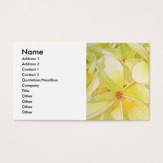 Lemon Yellow Frangipani Business Card