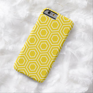 Lemon Yellow Geometric Pattern iPhone 6 Case