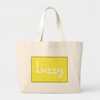 Lemon Yellow Japanese Tropical Fans Jumbo Tote Bag