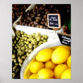 Lemon Yellow Kitchen Art Poster