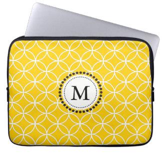 Lemon Yellow Monogram Laptop Sleeve