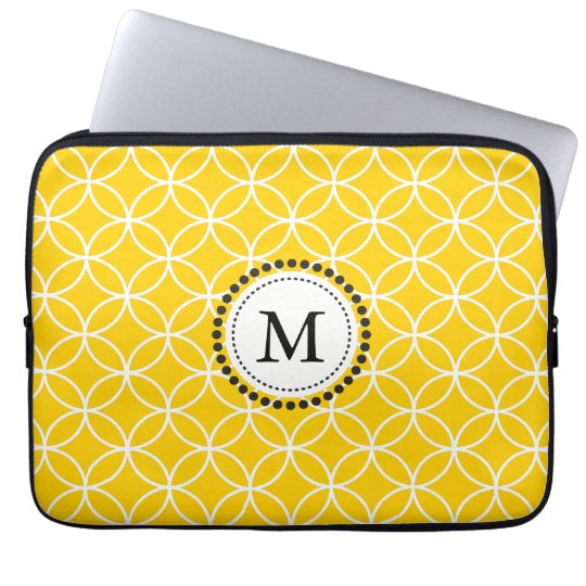 Lemon Yellow Monogram Laptop Sleeve