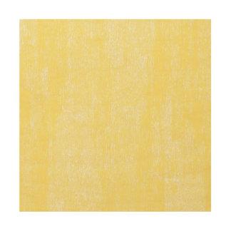 Lemon Yellow Paint Effect Wood Wall Art