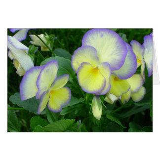 Lemon Yellow Pansies Card