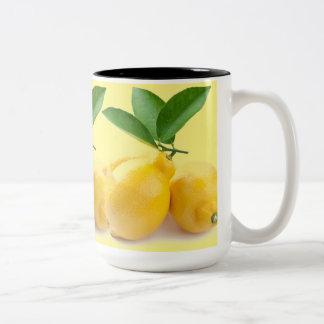 lemon yellow Two-Tone mug