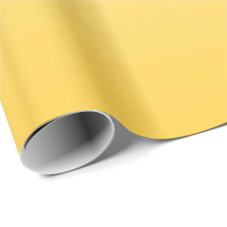 Lemon Yellow Two-Tone Wrapping Paper