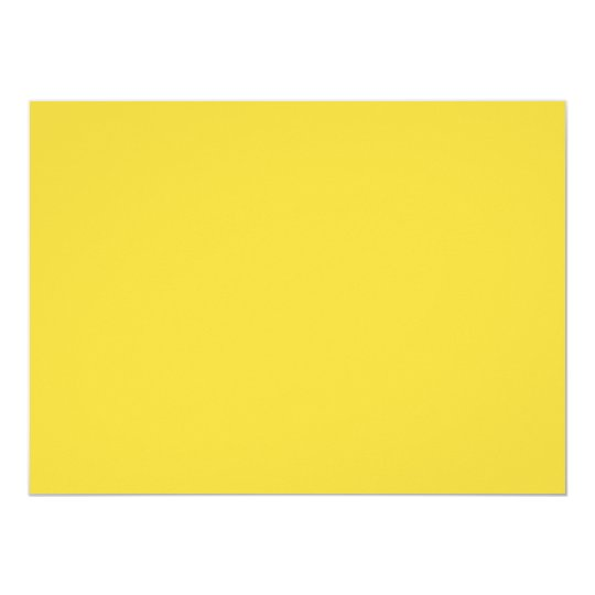 Lemon Zest Yellow Trend Colour Customised Template Card