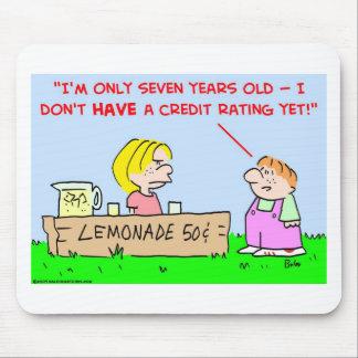 lemonade credit rating mouse pad