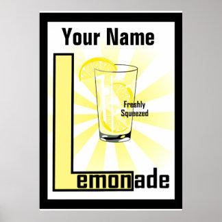 Lemonade Freshly Squeezed Custom Poster