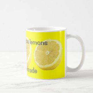 Lemonade - if life gives you lemons Advice Basic White Mug
