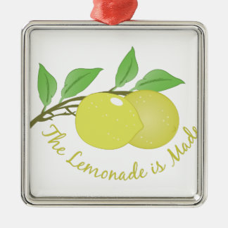 Lemonade Is Made Silver-Colored Square Decoration
