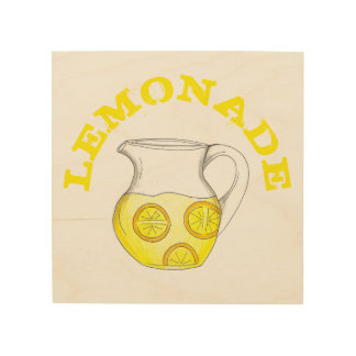 LEMONADE Lemon Ade Pitcher Summer Kitchen Decor