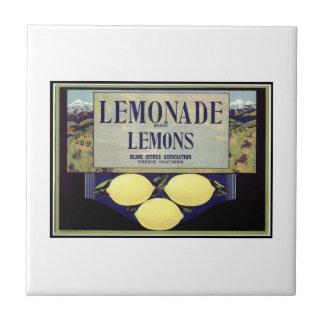 Lemonade Lemons Small Square Tile