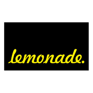 lemonade. loyalty punch card pack of standard business cards