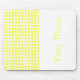 Lemonade Modern Houndstooth with name Mouse Pad