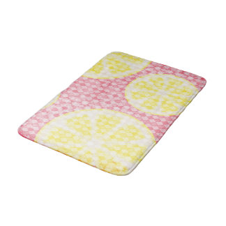 Lemonade Pink and Yellow Bath Mat