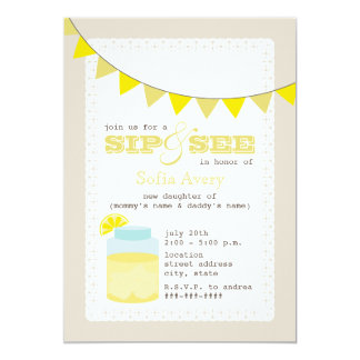 Lemonade Sip And See Invitation