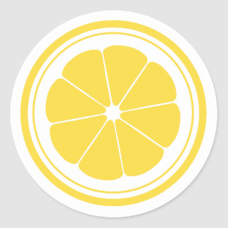Lemonade Stand Lemon Stickers