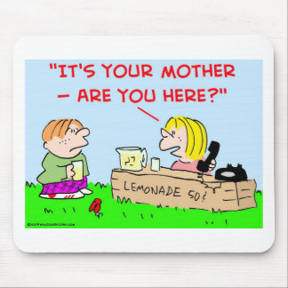 LEMONADE STAND TELEPHONE MOTHER MOUSE PAD