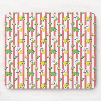 Lemonade stripes mouse pad